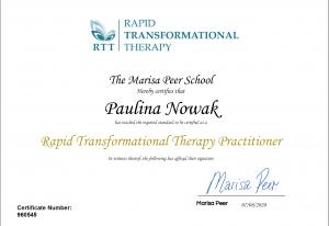 RTT Rapid transnational certificate Paulina Nowak Australia