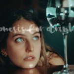 hypnosis for drinking woman looking at the glass